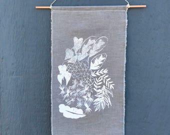 Botanical print banner