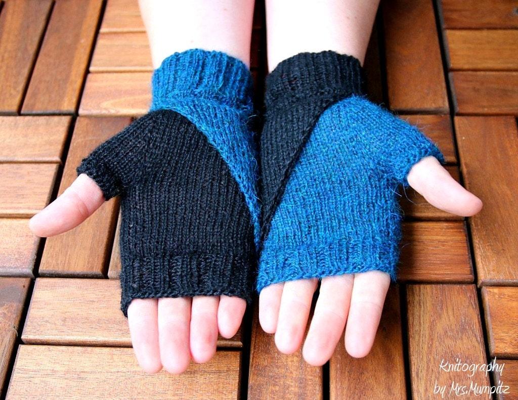 Fingerless Mittens knitting pattern wristers knitting pattern
