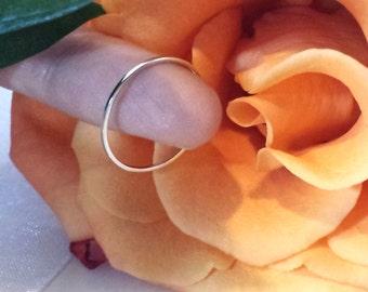 Super Thin Platinum Wedding spacer band ring ultra skinny narrow petite 18kt 14kt Solid Rose yellow white Gold ~ 1mm low profile palladium
