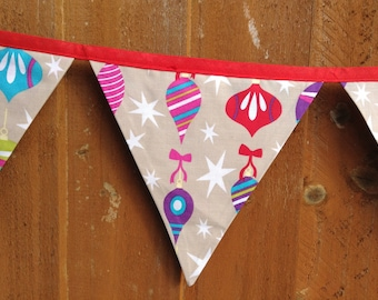 Contemporary christmas bunting