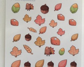 Kawaii Autumn Decorative  Stickers :