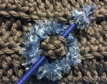 Shawl Pin  Shawl Stick-  Blue