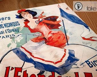 Jules Cheret - Vintage Beautiful Era - Advertising poster - L'Etendard Francais - P034