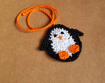 Penguin Umbilical Cord Tie for Newborn Baby, Crocheted Umbilical Tie, cute penguin MADE TO ORDER