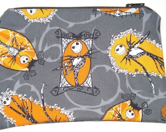 Jack Skellington Zipper Pouch: Nightmare Before Christmas.