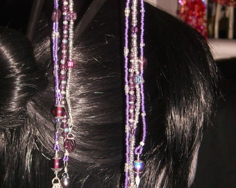 Sugar Plum Hair Sticks / Chop Sticks   TempBHS0014