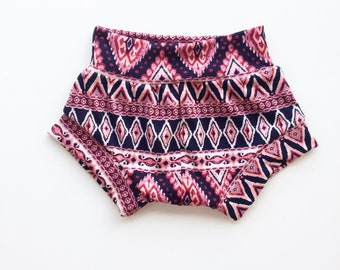 Aztec Pink Shorties / Baby Shorts / Toddler Shorts (Bow not included-see seperate listing)