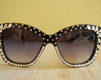 1950's Style Sunglasses with Rhinestones