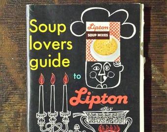 Vintage Lipton soup recipe booklet
