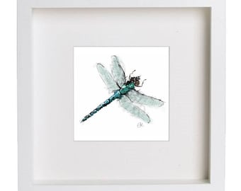 Framed dragonfly painting // dragonfly illustration // framed print // digital print // art print // dragonfly art // dragonfly gifts