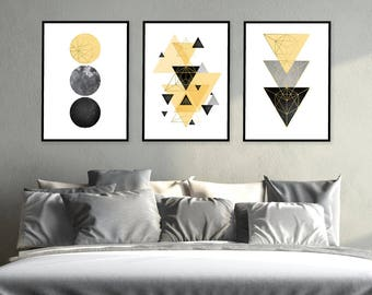 Elegant Trending Now Art, Printable Art, Set Of 3 Prints, 3 Print Set,