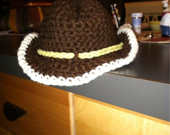 Brown 6/12 months cowboy hat so adorable can be used ss photo prop too.
