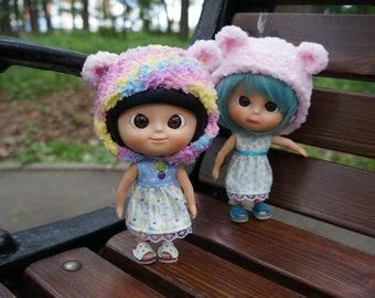 Muichan OUTFIT cute crochet helmet and cardigan