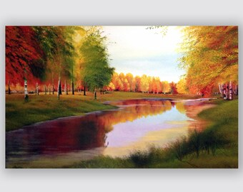 Made to order Golden Fall Oil Painting landscape painting