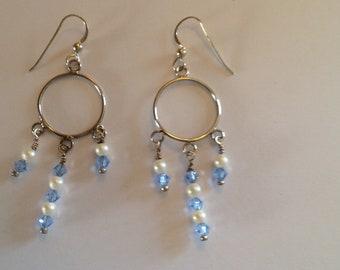 Baby blues chandelier earrings