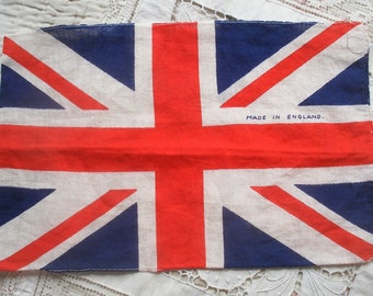 Vintage Union Jack flag, made in England