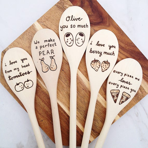 Funny Foodie Gift Food Puns Wooden Spoons Gift For Mom Play