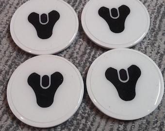Set of 4 Destiny 3D Printed Coasters