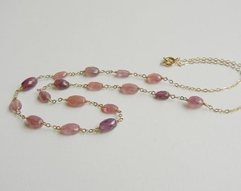 Pink Sapphire Aphrodite Necklace