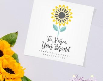 Small Sunflower Logo Business, Brand, Logo, Company, Unique Logo, Creative Logo, Custom Logo Boutique Etsy Logo, Logo Etsy Shop