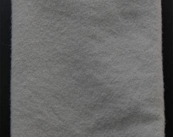 Light Grey: Fat Quarter Yard, Felted Wool Fabric for Rug Hooking, Wool Applique & Crafts
