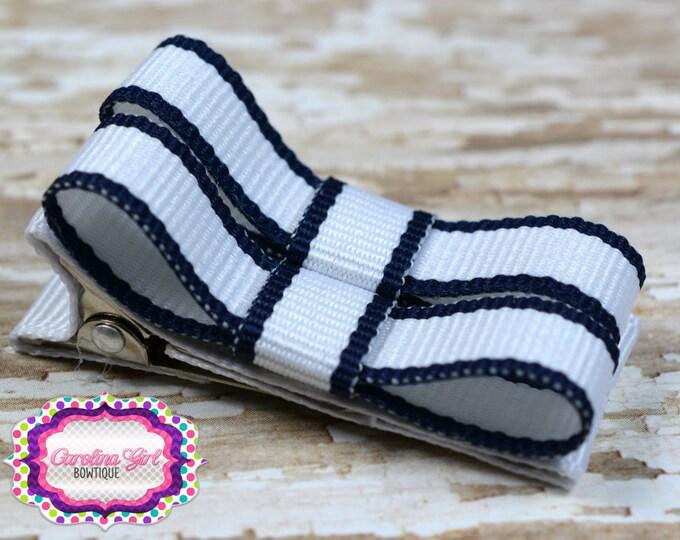 Navy Lollipop Hair Clips Basic Tuxedo Clips Alligator Non Slip Barrettes for Babies Toddler Girl Set of 2