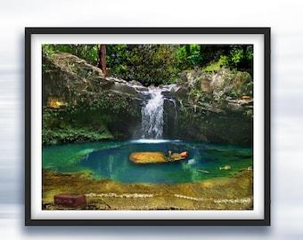 Goddess Meditation Art - Art Print - Original Art Photography - Sacred Pool