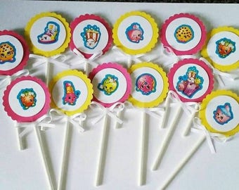 Shopkings cupcake toppers