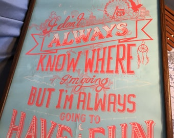 Vintage Inspirational Poster