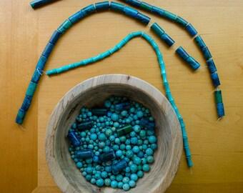 Blue/green beads