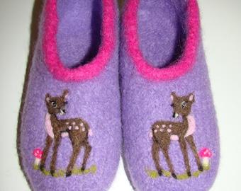 """Children's felt shoes """"little deer"""""""
