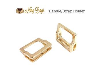 """Set of 4 - 1-1/4"""" Strap Holder (High Quality)/ Strap Clasp / Strap Connector / Decorative Strap Holder for Bags in Light Gold Finish (NEW)"""