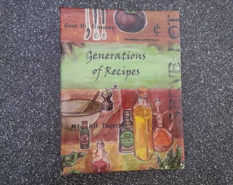 Cookbook, Generations of Recipes Cookbook, Books, Cooking, Family