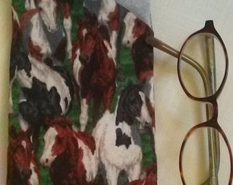 Eyeglass/sunglass case horse print