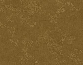 280-70526 Light Brown Jacobean Floral Wallpaper