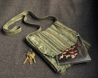 Green Handwoven Bag, TB 101