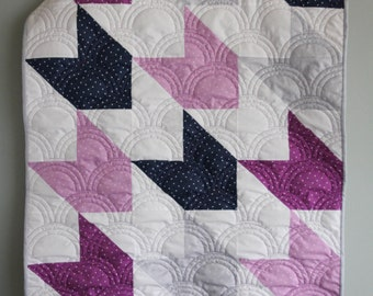 Custom Arrow Quilt, Modern Quilt, Crib Quilt, Baby Quilt, Baby Play Mat - Follow Me