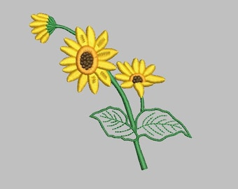 Sunflower Designs for Embroidery Machines