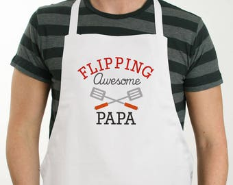 Personalized Flipping Awesome Apron, grilling, BBQ, for him, dad, grilling apron, grill gifts, father's day gift -gfy8115197
