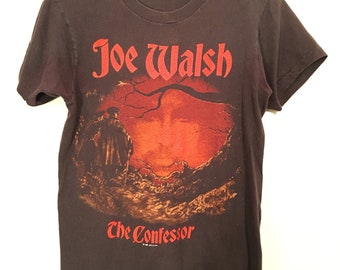 Vintage 80's Joe Walsh Tour Shirt Small The Confessor