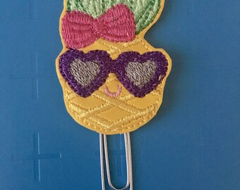 Pineapple with Sunglasses Planner Clip