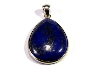 "1 natural stone, lapis lazuli pendant ""drop 34 x 27 x 6 mm"""