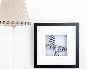 Framed Paper Butterfly silhouette Scene