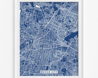 Mexico City Print, Mexico Poster, Mexico City Poster, Mexico City Map, Mexico Print, Street Map, Mexico Map, Mothers Day Gift