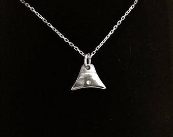 Silver Sheepdog Whistle Charm Necklace