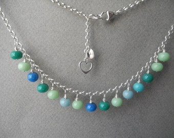 Handmade LAMPWORK Beaded Necklace