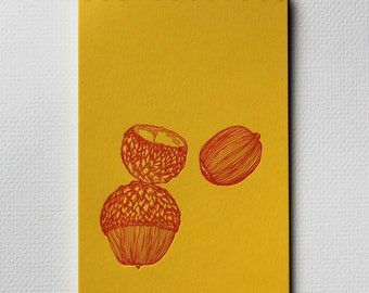 Acorn Notebook - Letterpress Spiral Bound Notebooks