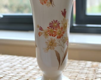 Staffordshire Fine Bone China - Tall Standing Vase - Queensway Solstice Edition - Mantle Table Decor