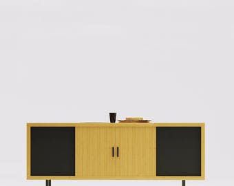 BUILT TO ORDER / 'The Shell' Record Console - Just The Cabinet, Made For You To Add Your Own Electronics