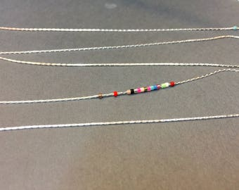 5 meters of serpentine chains 0.70 mm silver jewelry designs